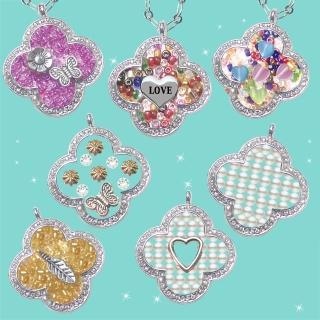 【HEMAKING】潘朵拉月光寶盒閃亮水鑽幸運草項鍊(7款/任選)