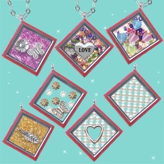【HEMAKING】潘朵拉月光寶盒甜蜜方糖項鍊-紅色(7款/任選)