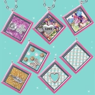 【HEMAKING】潘朵拉月光寶盒甜蜜方糖項鍊-粉紅(7款/任選)