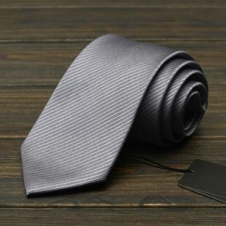 【拉福】領帶窄版領帶6cm防水領帶手打領帶(亮銀)  拉福
