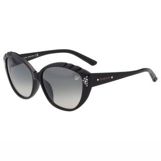 【SWAROVSKI】-貓眼水鑽 太陽眼鏡SW9056(黑色)  SWAROVSKI 施華洛世奇
