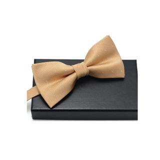 【拉福】銀絲點點領結新郎結婚領結糾糾(香檳金)  拉福
