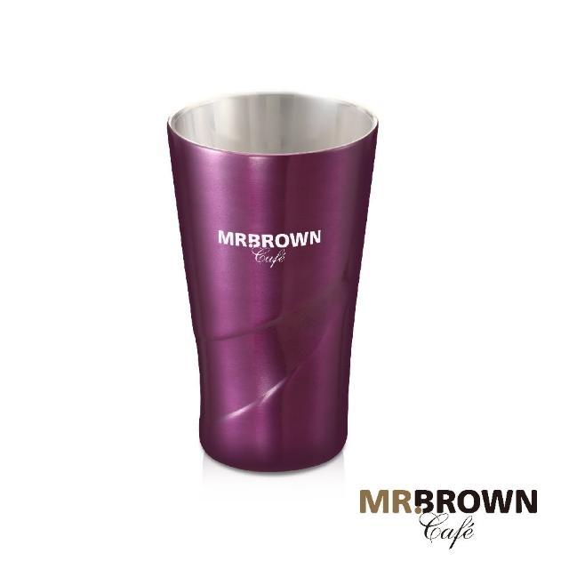 【伯朗】流星不銹鋼雙層杯(迷幻紫)