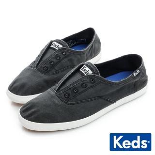 【Keds】品牌經典系列之水洗休閒便鞋(炭灰)   Keds