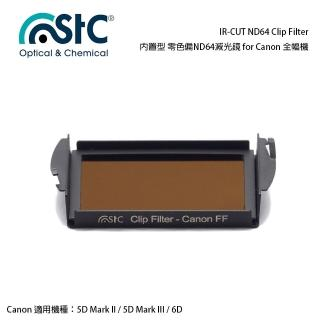 【STC】IR-CUT ND64 Clip Filter(內置型 零色偏ND64減光鏡 for Canon 全幅機)