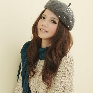 【I-shi】暖呼呼-毛織鏤空厚款圍巾(藍綠)  I-Shi