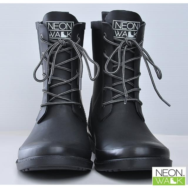 【Neon Walk 尼沃】馬丁中筒雨靴-黑色(雨鞋 雨靴 長筒雨靴 高筒靴 neonwalk)
