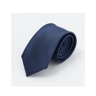 【拉福】斜紋領帶6cm中窄版領帶拉鍊領帶(深藍.銀.黑)   拉福