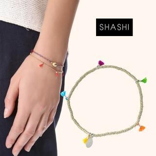 【SHASHI】美國品牌 Lilu 彩虹流蘇 幸運手鍊 銀色(幸運手鍊)   SHASHI