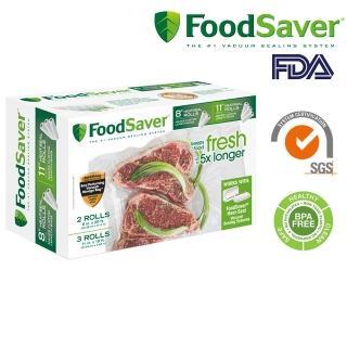 【美國FoodSaver】真空卷5入裝(8吋*2、11吋*3)  FoodSaver
