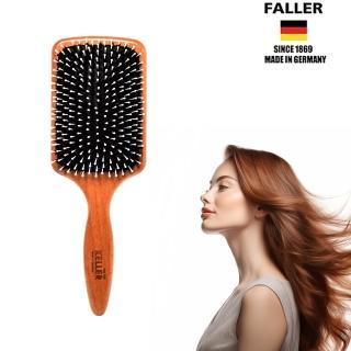 【德國FALLER芙樂梳具刷具】FSC櫸木黑豚鬃柔珠氣墊梳(柔軟梳毛給秀髮最溫柔的呵護)   FALLER 芙樂