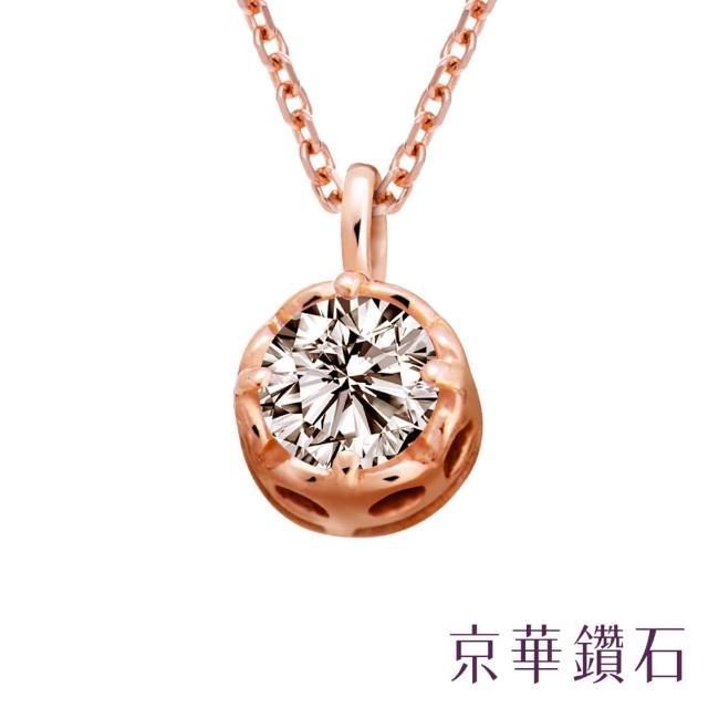 【京華鑽石】鑽石小花皇冠 0.10克拉 10K鑽石項鍊(簡約款)