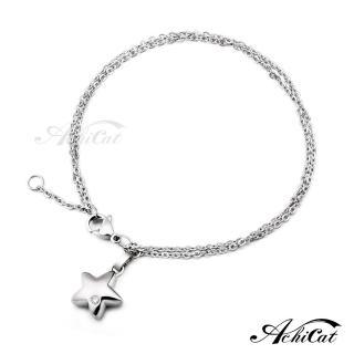 【AchiCat】鋼手鍊 珠寶白鋼 仲夏之星 星星 B595   AchiCat