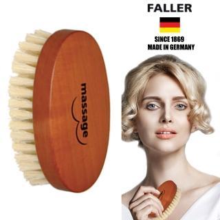 【德國FALLER芙樂梳具刷具】德國製 白豚鬃美胸按摩刷(產後與平時胸部按摩保養)   FALLER 芙樂