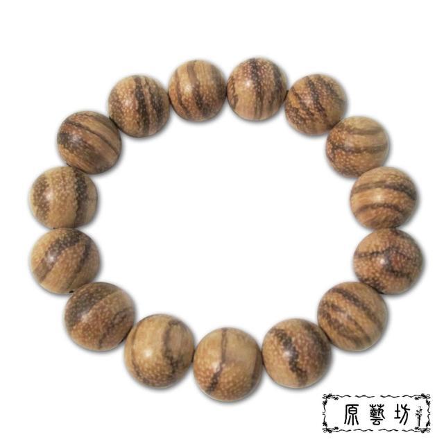 【原藝坊_12H】白沙沉佛珠手鍊(圓珠直徑約15mm)