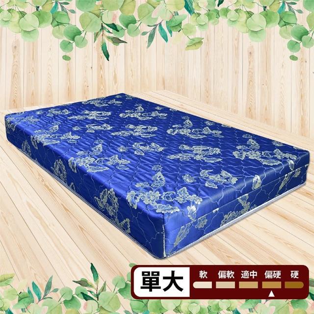 【IHouse】經濟型提花硬式高碳鋼彈簧床墊(單大3.5x6.2尺 - 高19cm)