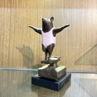 【薪傳獎銅雕大師-蕭啟郎】跳水鼠(創藝工坊 動物系列 十二生肖)   創藝工坊