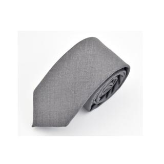 【拉福】領帶領帶棉質領帶灰6cm領帶手打領帶(灰)  拉福