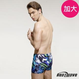 【Heatwave】加大專業四角男泳褲(炫彩藍洋-50220)   Heatwave 熱浪