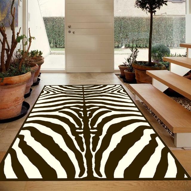 【范登伯格】卡斯☆頂級立體雕花絲質地毯-斑馬紋(100x140cm)
