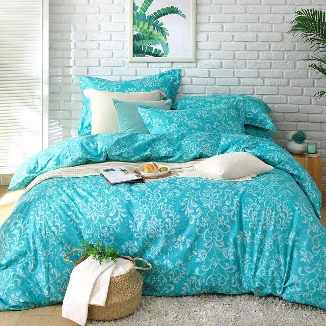 【Cozy inn】靜思-200織精梳棉被套床包組(特大)
