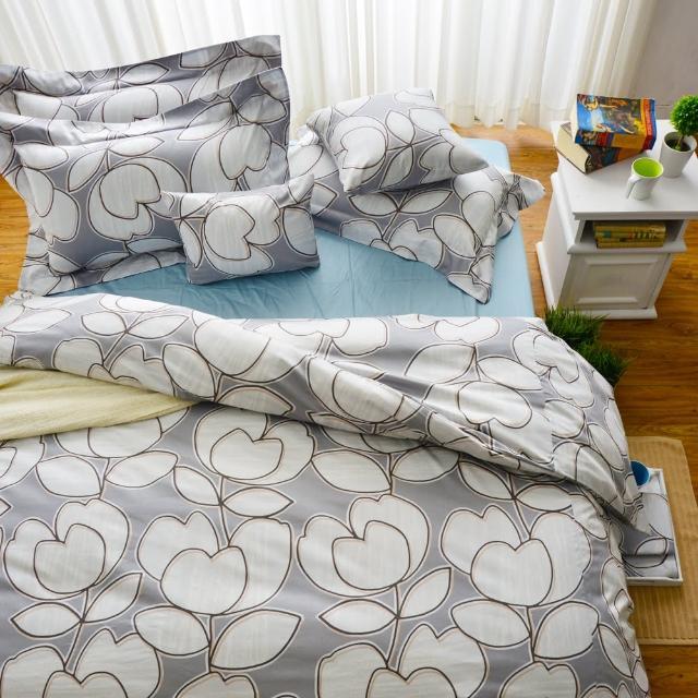【Cozy inn】花趣-200織精梳棉被套床包組(特大)
