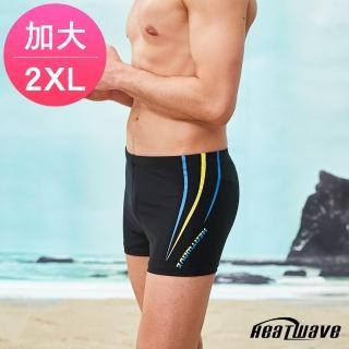 【Heatwave 熱浪】加大男泳褲 四角平口-海流線(359)  Heatwave 熱浪