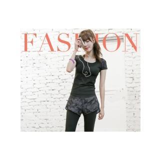 【狐狸姬】運動衣迷彩短袖運動衣(單短袖)   拉福