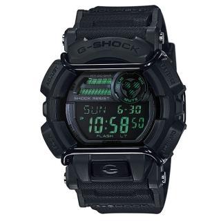 【CASIO】G-SHOCK 人氣霧面跳色街頭造型錶-黑X綠(GD-400MB-1)  CASIO 卡西歐