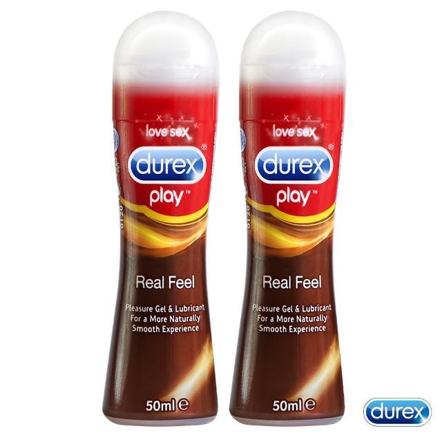 【Durex杜蕾斯】真觸感情趣潤滑液-2入(50ml)
