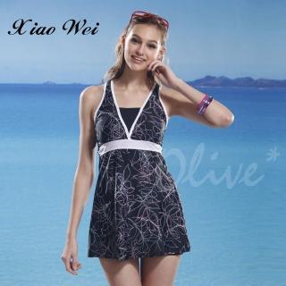 【泳之美】時尚二件式連身裙泳裝(NO.6923)  小薇的店