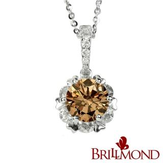 【BRILLMOND】金碧輝煌二克拉彩鑽墜(18K金)  BRILLMOND JEWELRY