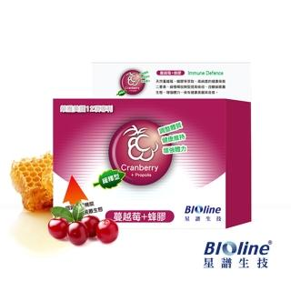 【BIOline星譜生技】緩釋型蔓越莓+蜂膠 60顆/盒(長時間均量補充)   Bioline 星譜生技
