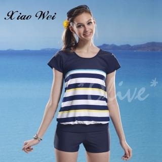【泳之美】時尚短袖二件式泳裝(NO.2281-4L)   小薇的店