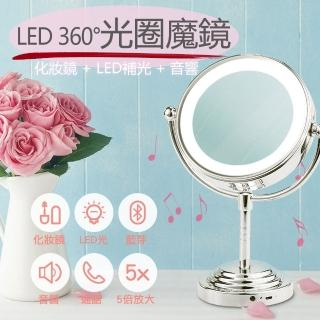 【GREENON】光圈魔鏡(四合一智慧型 化妝雙面鏡 LED化妝燈 藍芽音響 語音通話)   GREENON