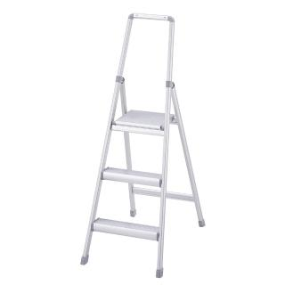 【長谷川】家具系鋁梯/踏台/梯子/工作梯銀色-3階  Hasegawa 長谷川
