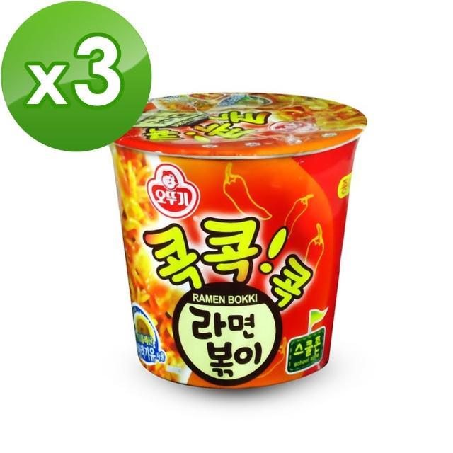 【韓國不倒翁OTTOGI】辣炒年糕風味乾拌杯麵(65g)x3入