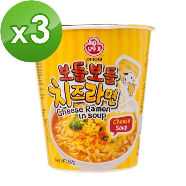 【韓國不倒翁OTTOGI】起司風味湯杯麵(62g)x3入