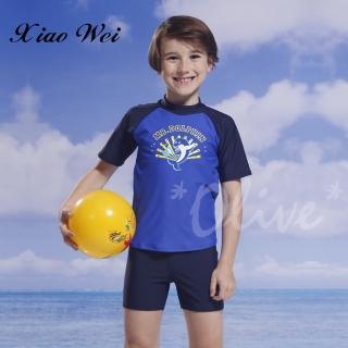 【泳之美】兒童單件短袖游泳上衣(NO.2923H)   小薇的店
