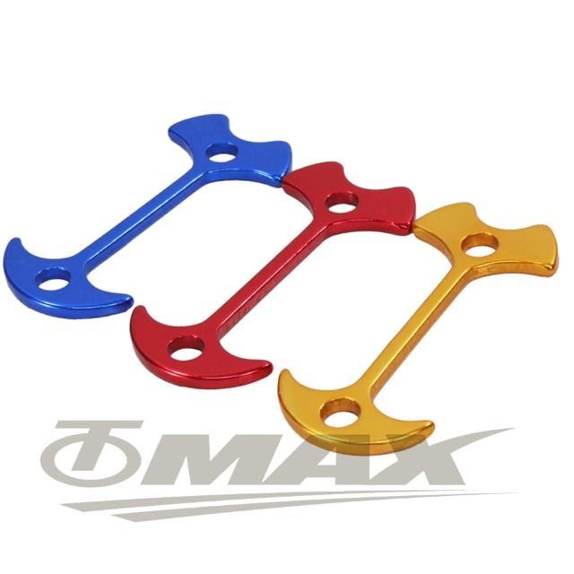 【omax】鋁合金魚骨地釘-加長版-12入(顏色隨機-12H)