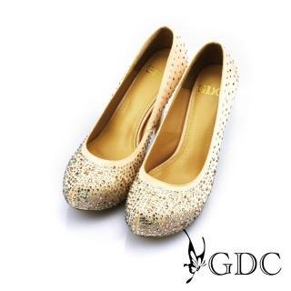 【GDC】幸福婚鞋-璀璨亮麗水鑽高跟鞋-杏色(227292)  GDC