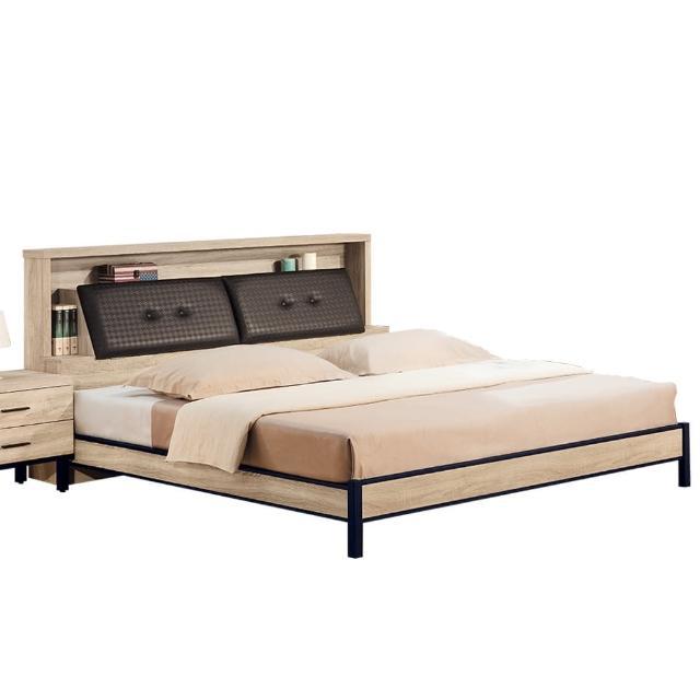 【Bernice】帕爾5尺雙人床組-床頭箱+床架(不含床墊)