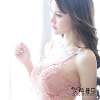 【久慕雅黛】美腰鏤空花朵蕾絲薄紗睡衣(膚色)  久慕雅黛