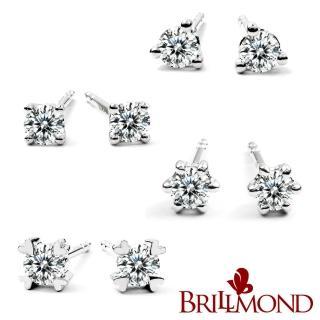 【BRILLMOND】經典鑽石耳環(18K白金台+10分鑽X2)  BRILLMOND JEWELRY