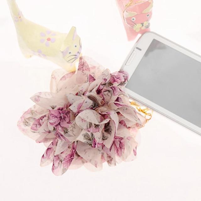 【Lady c.c.】春漾輕襲浪漫花園手機吊飾(紫)