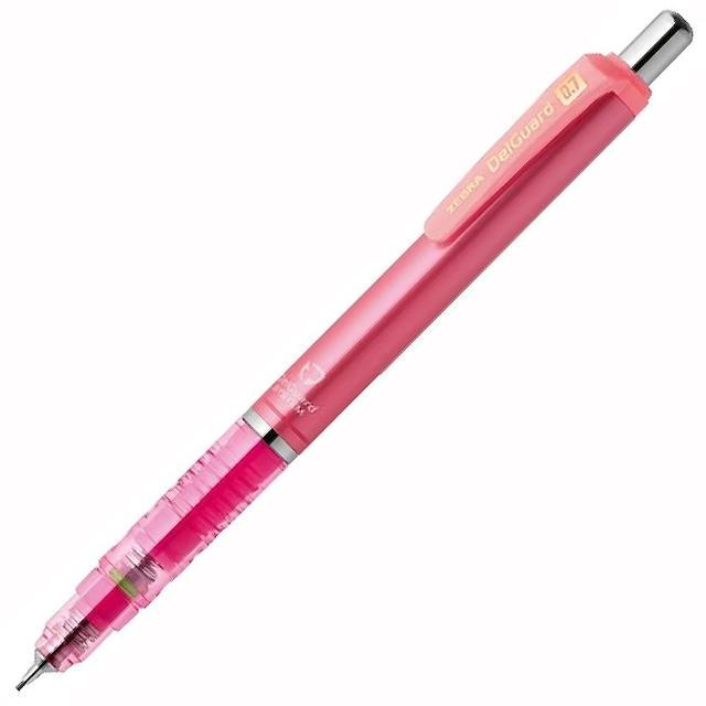 【ZEBRA】P-MAB85 DelGuard 不易斷芯自動鉛筆 0.7亮粉紅