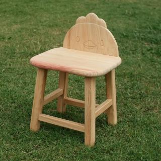 【MU LIFE 荒木雕塑藝品】可愛動物無垢檜木兒童椅(小雞)  MU LIFE 荒木雕塑藝品