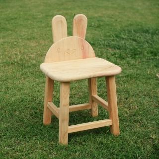 【MU LIFE 荒木雕塑藝品】可愛動物無垢檜木兒童椅(兔兔)   MU LIFE 荒木雕塑藝品
