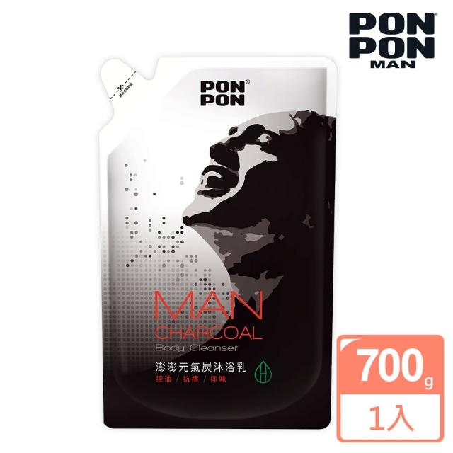 【澎澎MAN】植系沐浴乳 元氣炭控油-700g