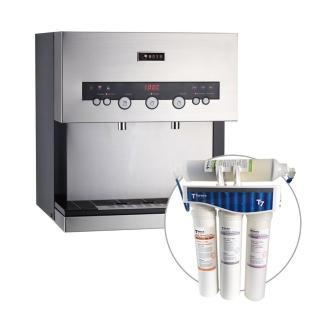 【德克生活】Q3-3S桌上型冰冷熱三溫飲水機(日本恆溫陶瓷加熱器)   德克生活